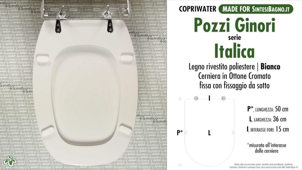 """ITALICA di POZZI GINORI rientra sicuramente nella categoria dei """"COPRIWATER GRANDI DIMENSIONI"""" suoi 50 cm di profondita!"""